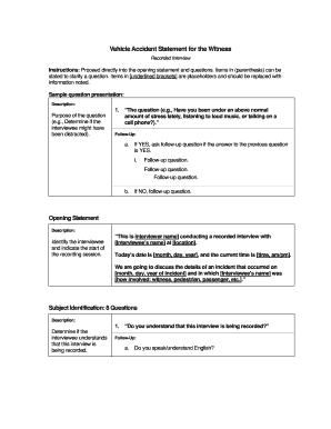 State Farm Report Accident >> Accident Report Form Witness State Farm Fill Out And Sign