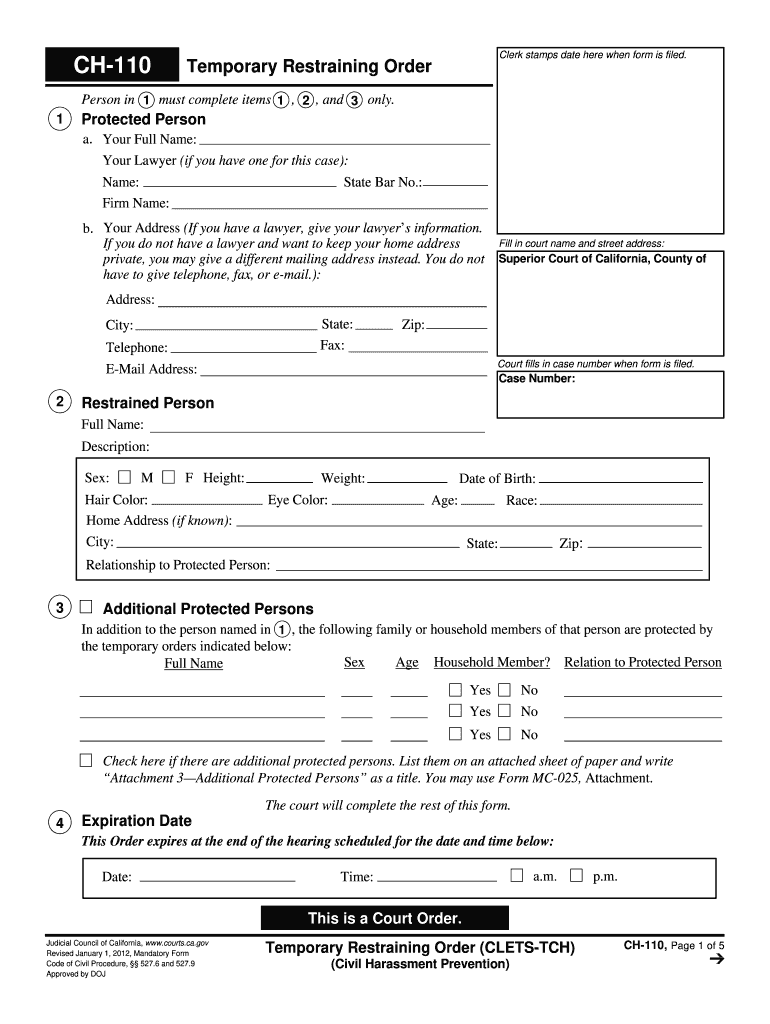 Get And Sign Ch 110  Form 2012-2021