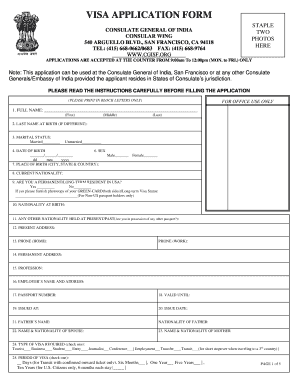 11175 Visa Application Form India Template on b1 b2, italy schengen, enter japan sample, ds-260 immigrant,