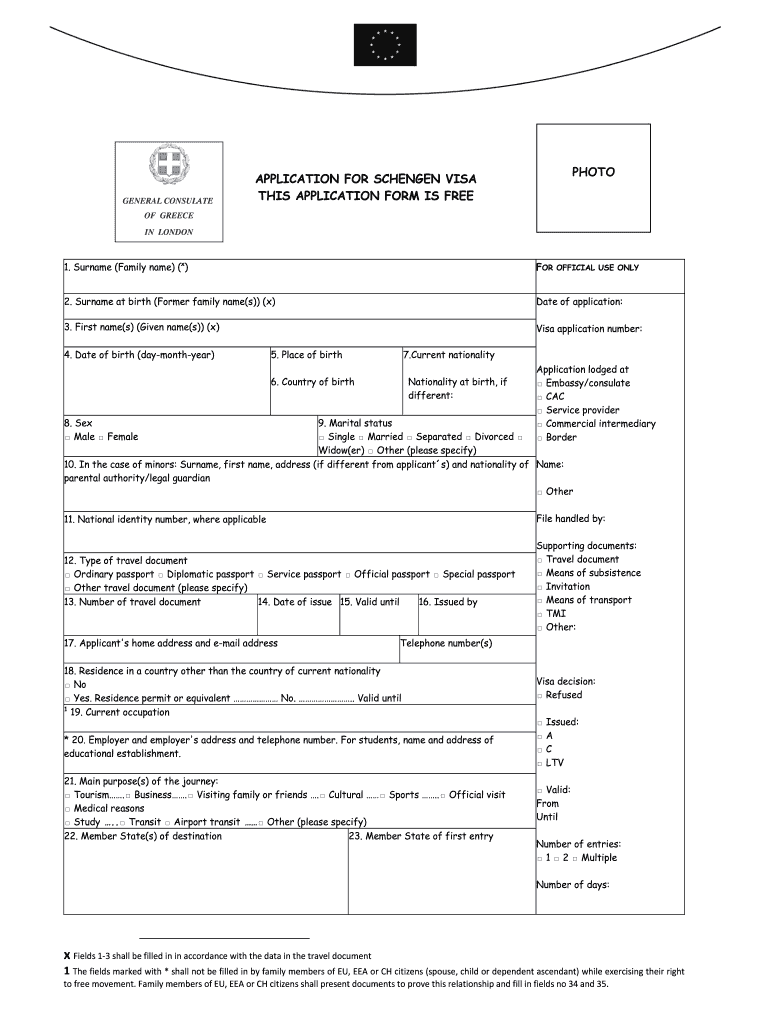 Applying For Scengen Visa Greece Fill Out And Sign Printable Pdf Template Signnow