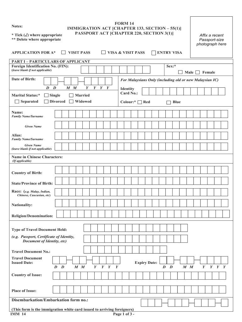 Singapore Visa Application Form Fill Out And Sign Printable Pdf Template Signnow