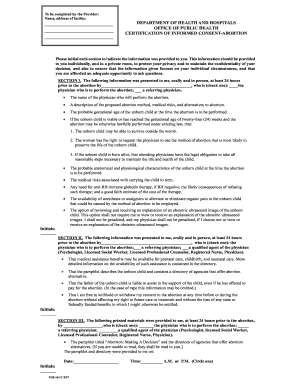 Abortion papers louisiana form - Fill Out and Sign Printable