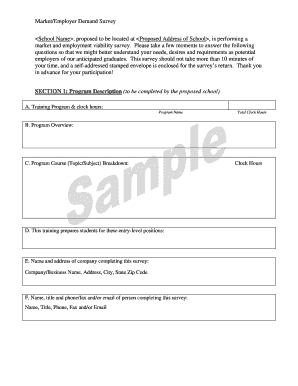 Get And Sign Market /Employer Demand Survey , Proposed To Be ... - Mhec Maryland Form