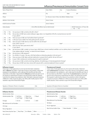 Get And Sign Blank Immunization Consent Form 2010