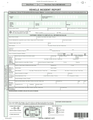 Get And Sign Vehicle Incident Report Form