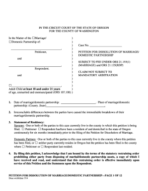 Oregon petition 1b pdf fillable form - Fill Out and Sign