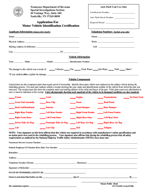 Get And Sign Application For Motor Vehicle Identification Certification Form