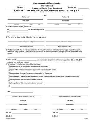 Get And Sign Petition For Divorce Form New Orleans