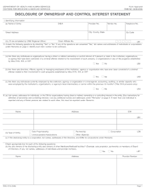 Get and Sign disclosure of ownership and control interest statement form 1513