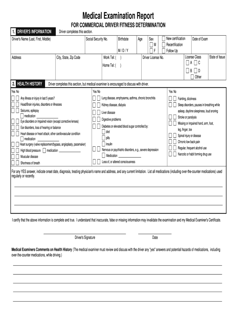 Medical Examination Instructions - FillAnyPDF With Regard To Medical Report Template Doc