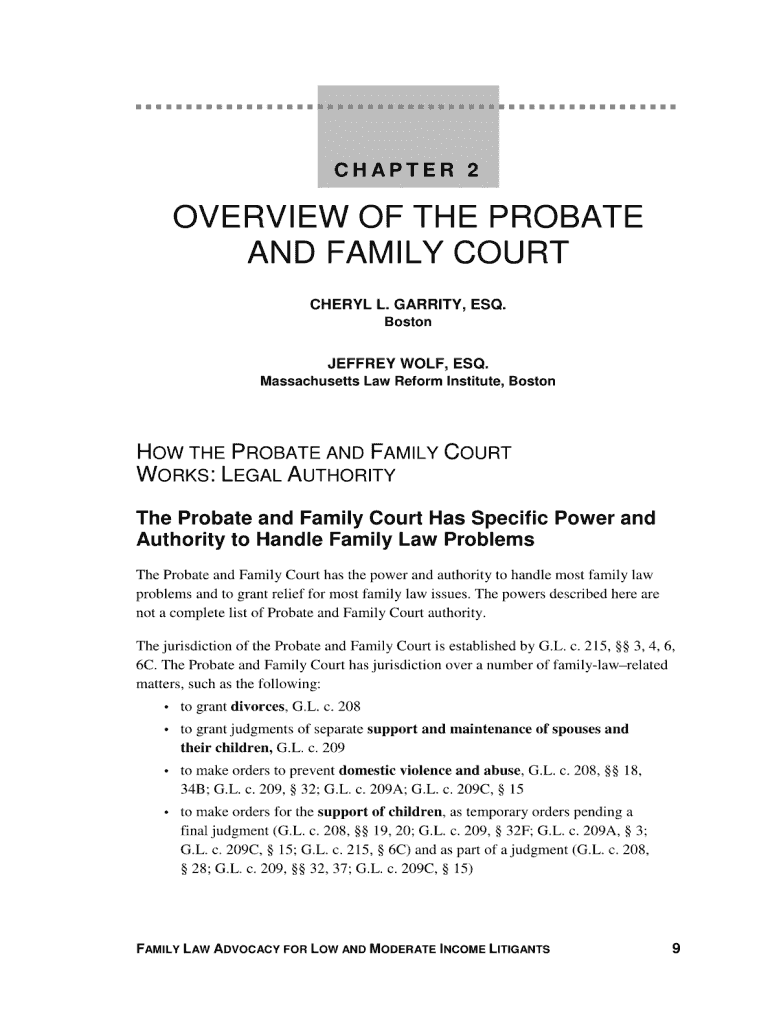 Get And Sign OVERVIEW OF THE PROBATE AND FAMILY    Mass Legal Services  Masslegalservices Form