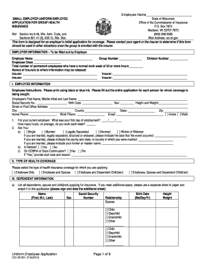 Get And Sign Wisconsin Employee Application Form