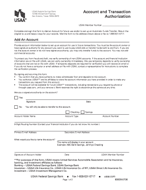 Get And Sign Usaa Authorization Form