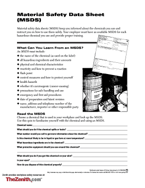 Get And Sign Msds Blank Form