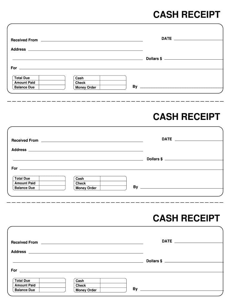 Receipt Template Fill Out And Sign Printable Pdf Template Signnow