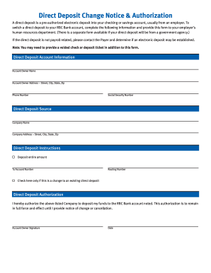 sample direct deposit form canada  How to print pre authorized deposit form with rbc canada ...