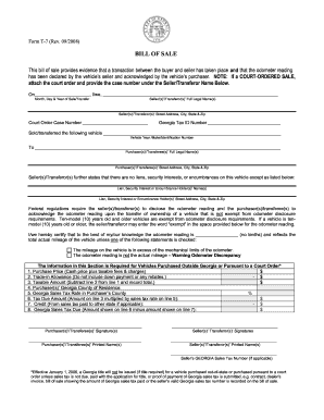 image relating to Bill of Sale Printable known as Ga monthly bill sale type - Fill Out and Indication Printable PDF