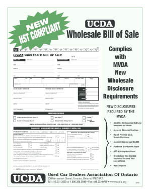 Wholesale Bill Of Sale Form Fill Out And Sign Printable Pdf