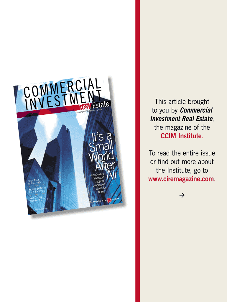 Get And Sign COMMERCIAL INVESTMENT Form