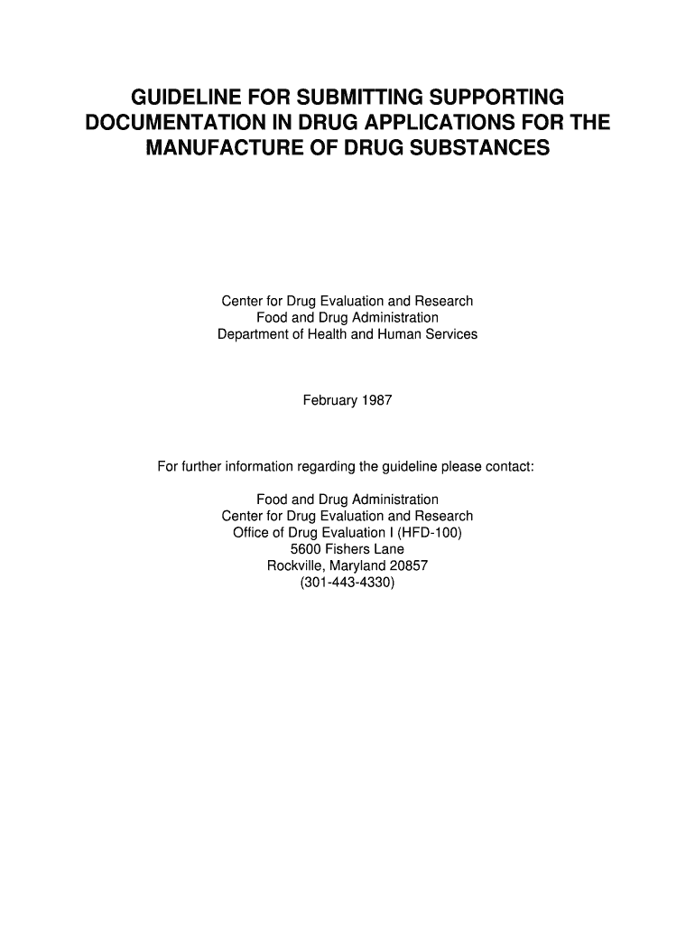 Get And Sign GUIDELINE FOR SUBMITTING SUPPORTING DOCUMENTATION IN  Fda Form