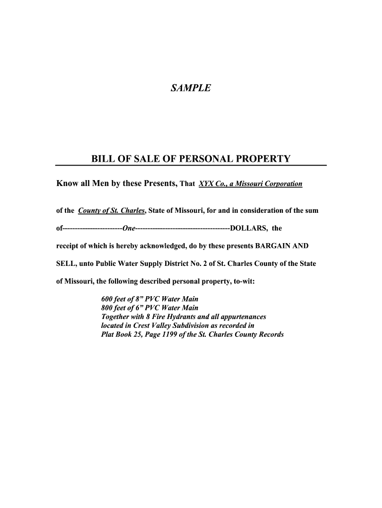 Get And Sign Bill Of Sale Personal Property Template 2005-2021 Form