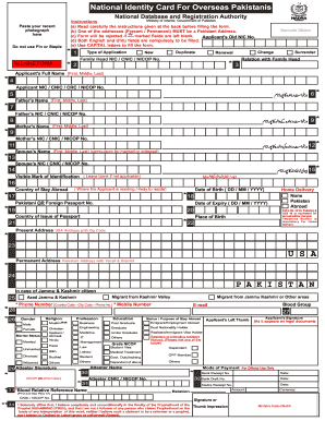 Blank Id Card Pakistan Form Fill Out And Sign Printable