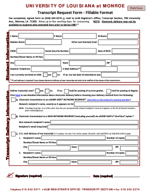 w2 form louisiana  Louisiana transcript form - Fill Out and Sign Printable PDF ...