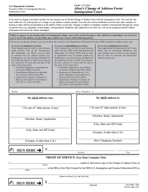 form i 485 eoir  Change of address immigration court form - Fill Out and Sign ...