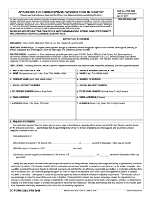 Dd Form 2293 2008 2019 Fill Out And Sign Printable Pdf Template