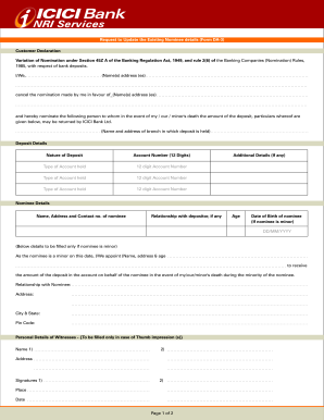 icici bank dd forms download