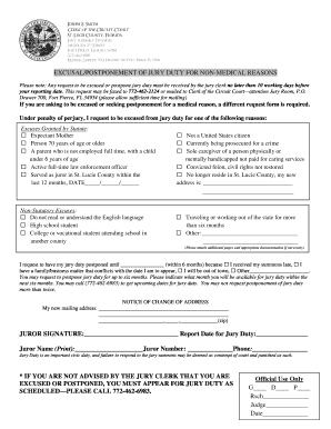 Jury duty lucie form - Fill Out and Sign Printable PDF Template