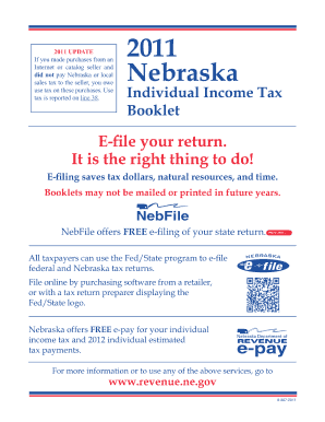 2011 Nebraska Fillable 1040n Form Fill Out And Sign