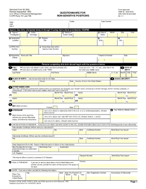 Standard Form 85 Fill Out And Sign Printable Pdf Template Signnow