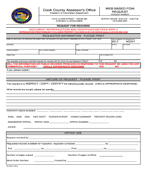 Cook Foia Request Form Fill Out And Sign Printable Pdf Template