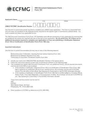 Ecfmg Form 187 Fill Out And Sign Printable Pdf Template Signnow
