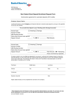 image regarding Bank of America Deposit Slip Printable known as Non federal lead deposit enrollment check with sort - Fill