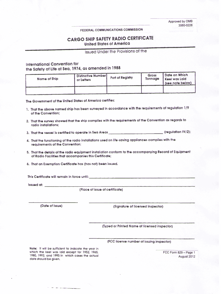 Get And Sign Cargo Ship Safety 2012-2021 Form
