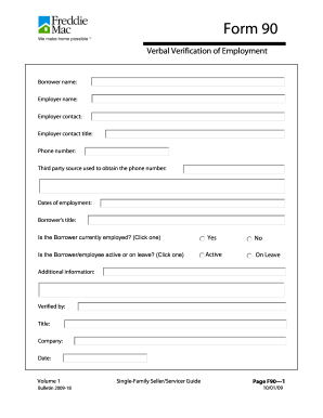 Verbal Verification Of Employment Form Fill Out And Sign Printable
