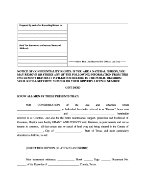 graphic about Printable Warranty Deed Texas named Texas present deed for affected individual in the direction of client type - Fill Out