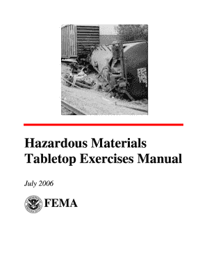 Get And Sign Tabletop Exercise Manual Form