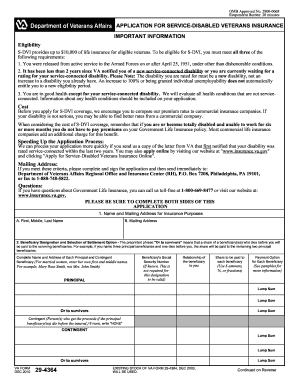 Va Form 29 4364 Fill Out And Sign Printable Pdf Template Signnow