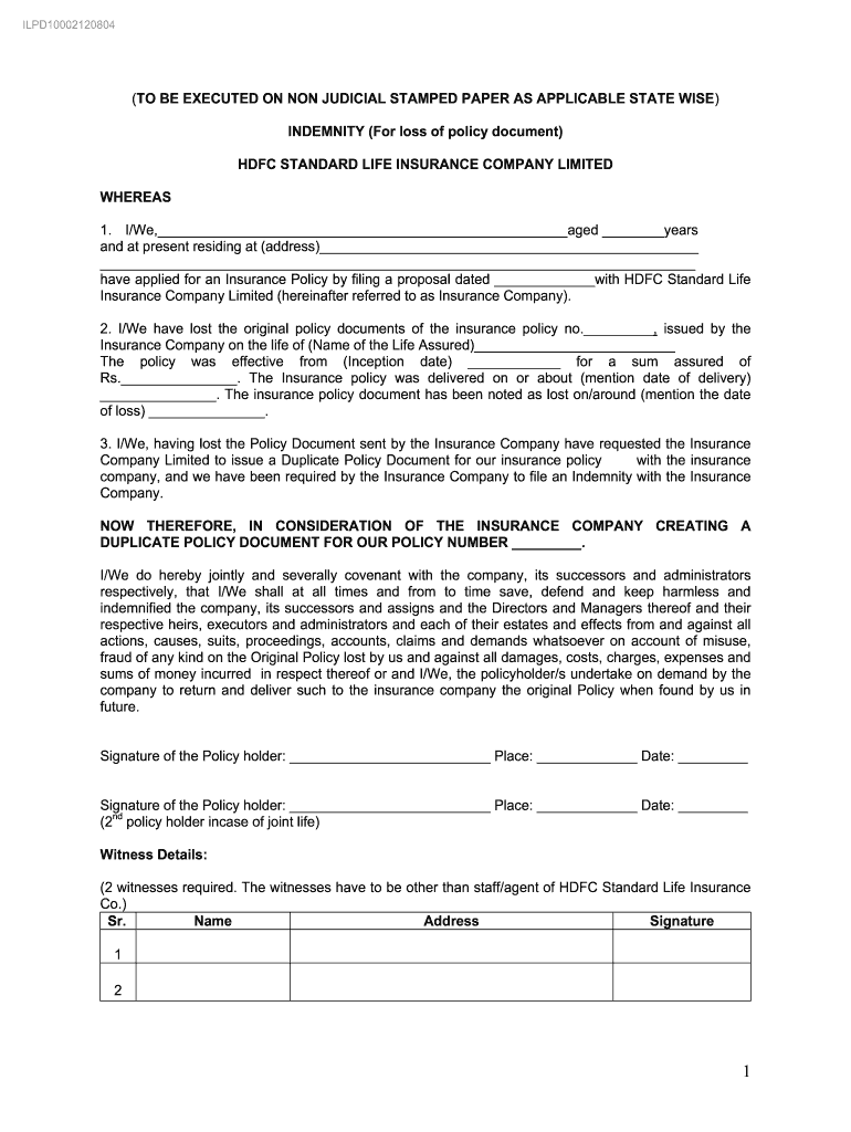 Letter Of Indemnity Template from www.signnow.com