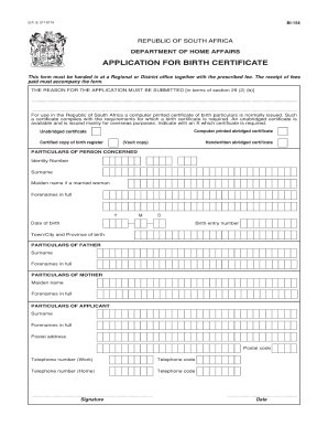 picture about Printable Birth Certificate Form identify Bi 154 start certification kind - Fill Out and Indication Printable