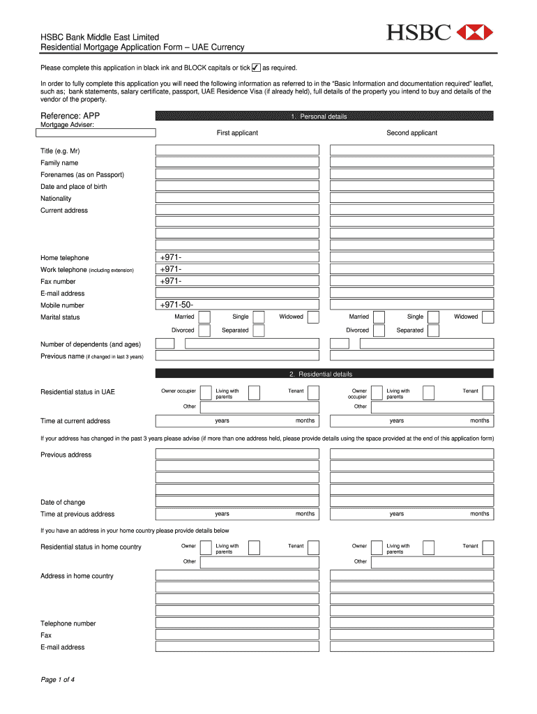 Mortgage Application Fill Out And Sign Printable Pdf Template Signnow