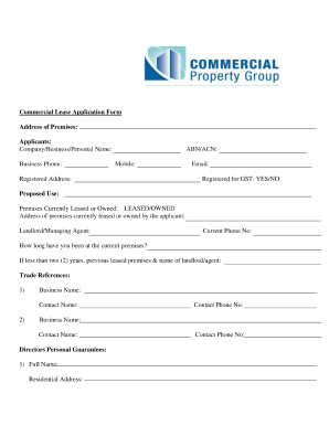 Commercial Lease Agreement Template Download Form Fill Out