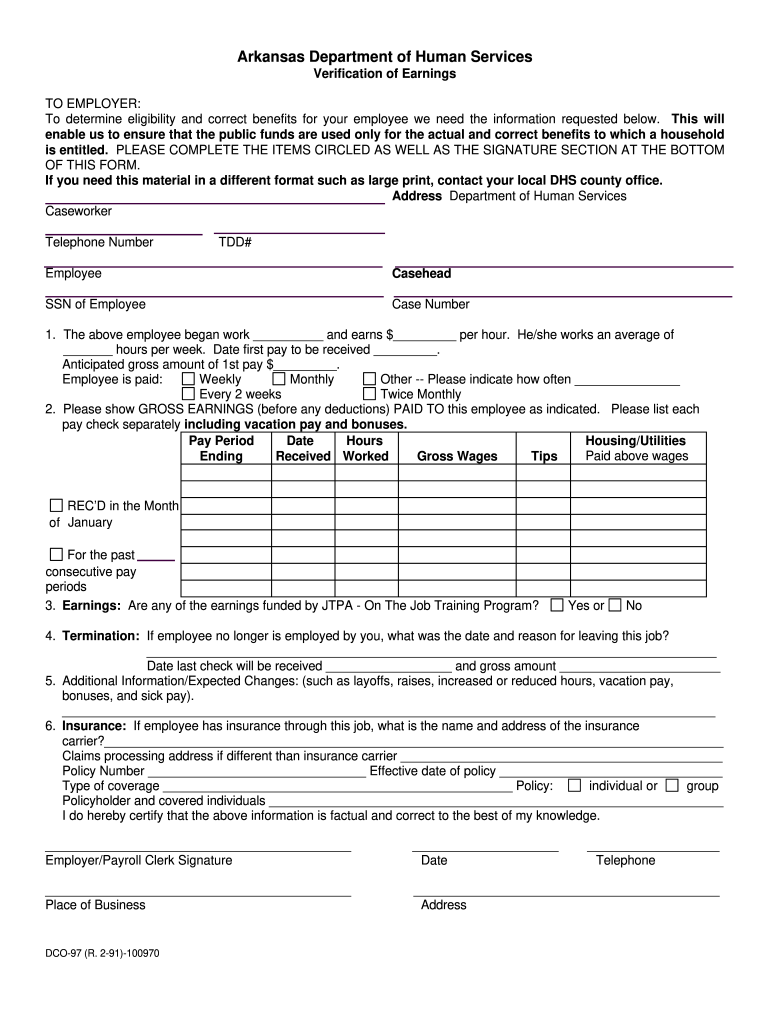 Get And Sign Dco 97 Form 2007-2021