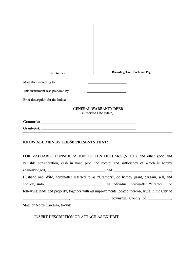 Life Estate Deed Fill Out And Sign Printable Pdf Template Signnow