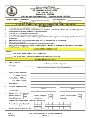 Get And Sign Virginia Btro Form