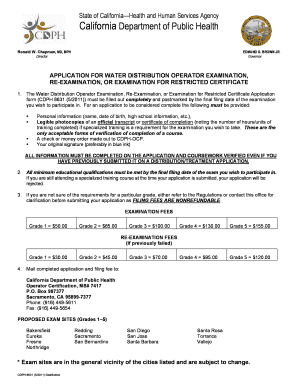 Cdph 8631 Form Fill Out And Sign Printable Pdf Template Signnow