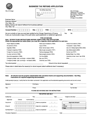Get And Sign BUSINESS TAX REFUND APPLICATION - Illinois Department Of ... - Tax Illinois Form